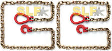 Qty 2 Of 6 Grade 70 516 Logging Choker Chains With Clevis Ring Amp Hook New