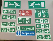 Job Lot of 14 Fire Exit Signs for Office, Pub, Flats