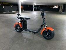 Double Seat Shocks 1500W 60V Wide Fat Tire Electric Scooter Moped Bike CityCoco
