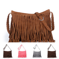 Women's Fringe Messenger Shoulder Tassel Bag Fashion Handbag Lady Crossbody Bag