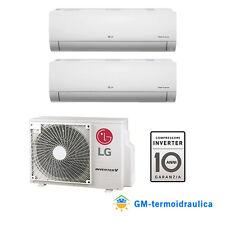 Climatizzatore LG Inverter Libero Dual Split 12000+12000 12+12 BTU A++ MU2M17