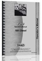 Ford 1801 Diesel Industrial Tractor Operators Manual