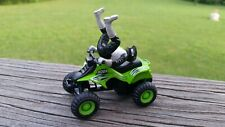 Maisto Quad ATV 4 Wheeler Pull Back Green Diecast Toy One Rider Included EUC