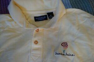 Jamba Juice® Apron, Polo Shirt Medium Embroidered, Sun Visor Hat Adjustable Used