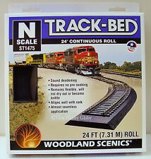 Woodland Scenics ST1475 N Scale 24 foot Continuous Roll Track-Bed. New