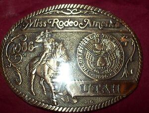 AWARD DESIGN MEDALS MISS RODEO AMERICA 1986 UTAH MISS VICKI VEST ROY UTAH