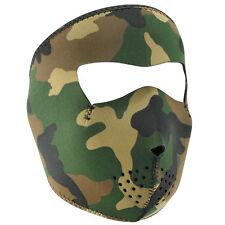 Zan Headgear Neoprene Full-Face Mask, Woodland Camouflage