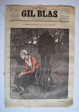 JOURNAL GIL BLAS Illustre STEINLEN Musique ROSNY Immolation n°25 1895