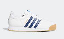 Adidas Originaux Samoa Vintage Baskets En Blanc et Bleu Chaussures Cuir