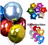 "HELIUM FOIL BALLOON 18"" STAR 18"" HEART OR 18"" ROUND BIRTHDAY WEDDING PARTY"