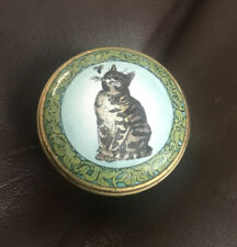 Halcyon Days Enamels Smithsonian McGuffeys Cat With Alphabet And Bee. Sweet!