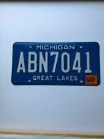 2007  Michigan MI License Plate ABN7041 Great Lakes