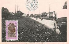 Tamatave,Madagascar,Africa,Blvd.Joffre,Used,Madagascar Stamp,Foulpointe,1934