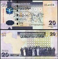 Libya 20 Dinars 2009, UNC, P-74, Sign 10