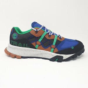 Timberland Garrison Trail Low A248Q Black Mesh Blue Hiking Shoe Boot Sneaker Men