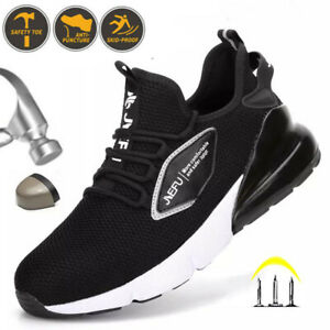 Mens Safety Shoes Women Lightweight Steel Toe Cap Work Shoes Trainers Boots UK J