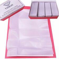 VISION Premium Diamond Parcel Papers Lined White + White 100pc Gems Color stones