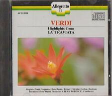 C.D.MUSIC  D499    VERDI : HIGHLIGHTS FROM  LA TRAVIATA   CD