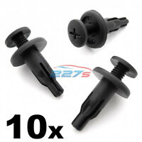 10x 8mm Screw Fit Plastic Side Skirt Clips, Honda Accord, Prelude 90505-SM4-003