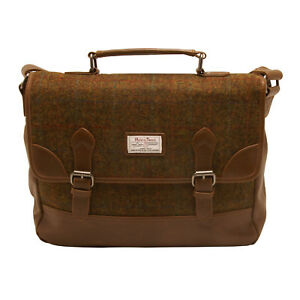 The British Bag Company - Stornoway Harris Tweed Briefcase Messenger Bag
