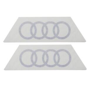 ORIGINAL Audi Dekorfolie Logo Audi Ringe florettsilber Q2 81B064317 Z7G