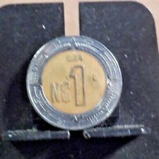 CIRCULATED 1994 N$1 MEXICAN COIN (92318)1.....FREE DOMESTIC SHIPPING !!!!!