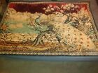 """Vintage Peacock Floral Rug / Wall Tapestry Original Quality 67"""" x 46"""""""