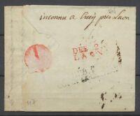1805 Lettre Déboursé DEB 2/COUCY-LE-CHATEAU + DEB 2/LAON AISNE TB. P3884