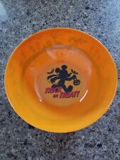 Disney Store Trick or Treat Mickey Mouse Halloween Orange Plastic Bowl