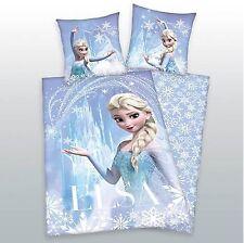 Frozen Elsa Bettwäsche Eiskönigin, Kissen 80x80cm Bettbezug 135x200cm Microfaser