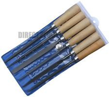 6pc 120mm Precision Warding File Wooden Handle Fine Hardened Cut set Wallet Wood