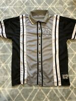 USA Training Netted Baseball Jersey Grey And Black Mens Small