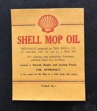 Shell Mop Oil Vintage Bottle Decal Label NOS