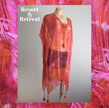 Womens Kaftan, Multi-colour, Pink/Orange, Free Size, Resort Wear