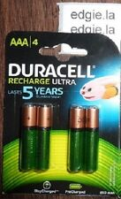 4 x DURACELL AAA 850 mAh Rechargeable Batteries ULTRA Stay-Charged HR03 NiMH