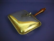 Vintage Silver Plated Silent Butler with Wooden Handle Crumb Ash Catcher