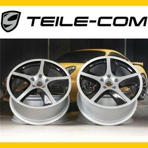 """ORIG. Porsche Cayenne 955/957 20"""" SportTechno Felgen/Wheels 9J+10J silver+black"""