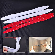 2pcs White Rubber Rear Car Bumper Protector Guard Corner Scratch Sticker Strip