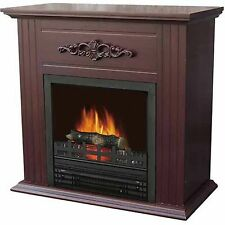 "Electric Fireplace Heater Indoor Living Room Bedroom with 28"" Mantle, Chestnut"