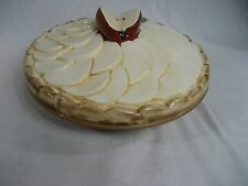 """Vintage Apple Pie Plate with Lid - 11.25"""" Made in Portugal"""