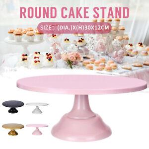"""12"""" Iron Round Cake Stand Pedestal Dessert Holder Wedding Birthday Party Dec"""