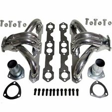 For Small Block Chevy Ceramic Coated Hugger Headers Shorty SBC 283 350 400