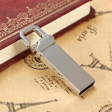 New 32GB USB 2.0 Metal Flash Pen Drive Storage Memory Keychain Thumb Stick Lock