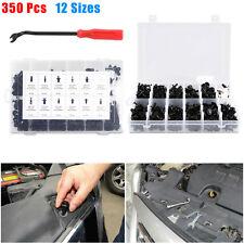 350Pcs Car Body Plastic Push Pin Rivet Fasteners Trim Moulding Clip Screwdriver^