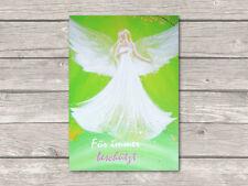 """♥ Engel Bild Postkarte """"Für immer beschützt"""" Kunst Engelbilder, Grußkarte"""