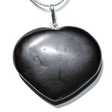 "CHARGED Himalayan Black Tourmaline Crystal HEART Perfect Pendant™ + 20"" Chain"