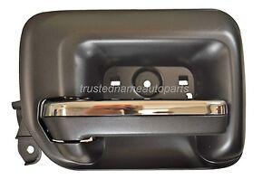 Interior Inner Inside Door Handle Black Chrome Lever Driver Side Rear
