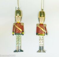GISELA GRAHAM TIN NUTCRACKER SOLDIER HANGING CHRISTMAS TREE DECORATION GIFT TAG