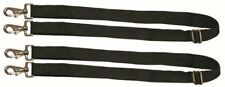 Weatherbeeta Replacement Elastic Leg Strap for Horse Blankets 2 Snaps Black Pair
