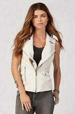 $498 NWT True Religion Brand Jeans Women's Leather Moto Vest Size Medium